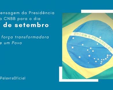 Em mensagem, presidência da CNBB fala da força transformadora do povo Brasileiro
