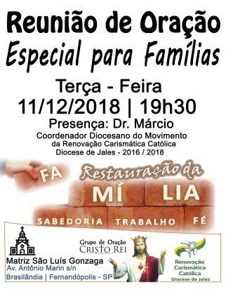 Noite Especial para as Famílias - Fernandópolis