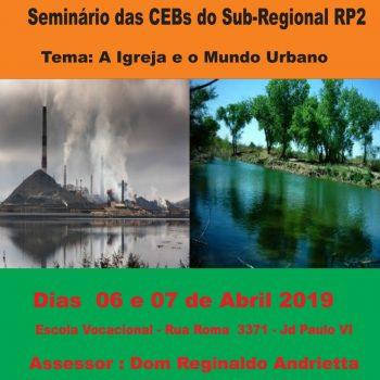 Seminário das CEBs Sub-Regional RP2