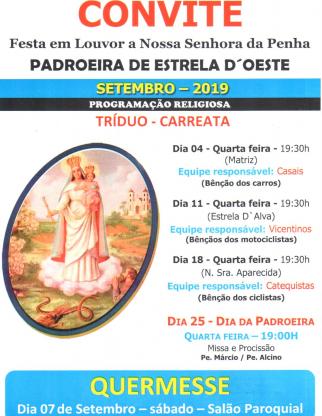 Festa da Padroeira Nossa Senhora da Penha