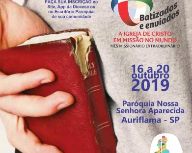 Diocese de Jales diz sim ao pedido do Papa Francisco realizando Semana Missionária Extraordinária no mês de outubro