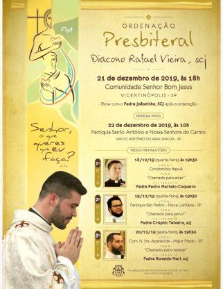 Convite Ordenação Presbiteral do Diácono Rafael
