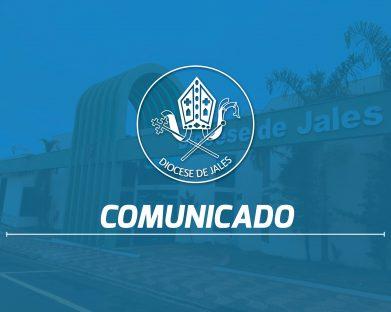 Normas da Diocese de Jales para celebrações e reuniões pastorais nos períodos mais graves da Covid-19