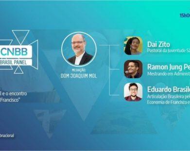 """Três jovens brasileiros inscritos para o encontro """"A economia de Francisco"""" participam de 2° live Igreja no Brasil Painel"""