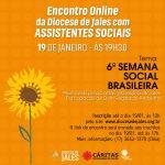 Encontro Online da Diocese de Jales com ASSISTENTES SOCIAIS