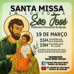 Catedral de Jales terá missas transmitidas no dia de São José