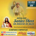 Missa dos Santos Óleos da Diocese de Jales será realizada nesta sexta-feira, 11 de junho